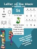 Letter of the Week - S - A Preschool Unit