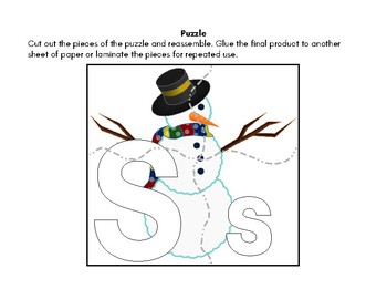 Letter of the Week: S Is for Snow