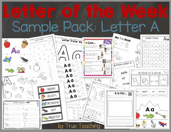 "Letter of the Week Sample Pack ""Letter A"""