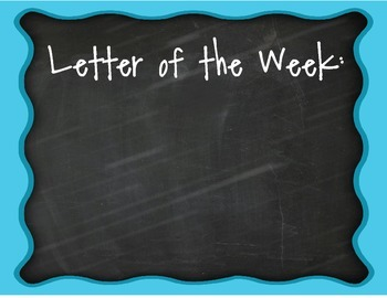 Letter of the Week Set