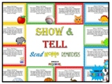 Letter of the Week: Show and Tell Reminders
