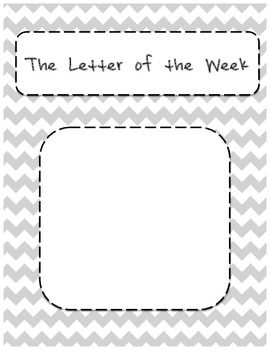 Letter of the Week Sign