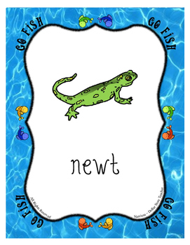 Letter of the Week Supplement for the Letter N ~ Go Fish Card Game ~ Alphabet N