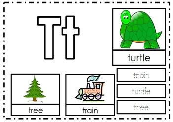 Alphabet Activities Letter Tt