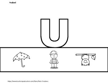 Letter of the Week -U- Activity Pack