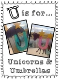 Letter of the Week U is for Unicorns and Umbrellas