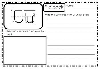 Alphabet Activities Letter Uu