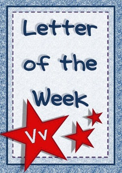 Alphabet Activities Letter Vv