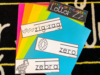 Letter of the Week - Word Cards