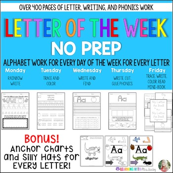 Letter of the Week - Work for a week for every letter in the alphabet