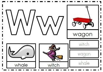 Alphabet Activities Letter Ww