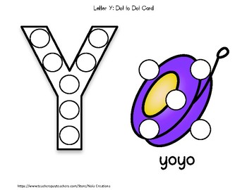 Letter of the Week -Y- Activity Pack