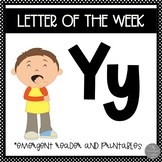Letter of the Week ❤️ Y Emergent Reader and Literacy Materials