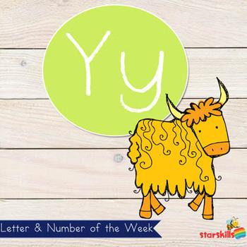 Letter of the Week Yy Workbook
