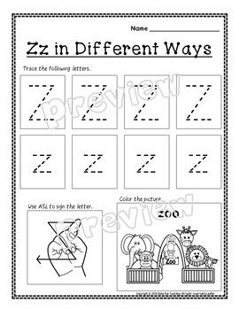 Alphabet Letter of the Week Z