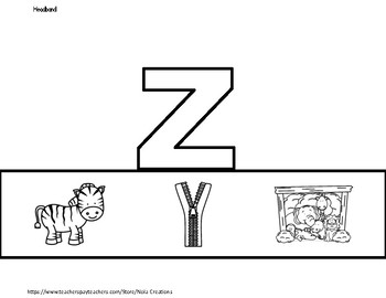 Letter of the Week -Z- Activity Pack