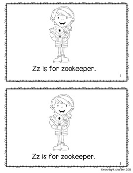Letter of the Week ❤️ Z Emergent Reader and Literacy Materials