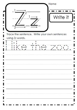 Letter of the Week - Zz