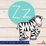 Letter of the Week Zz Workbook