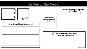 Letter of the Week template - Google slides