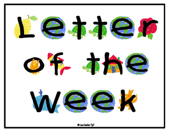 Letter of the Week/Day Display