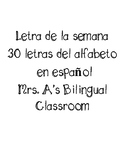 Letter of the week (SPANISH ABC)