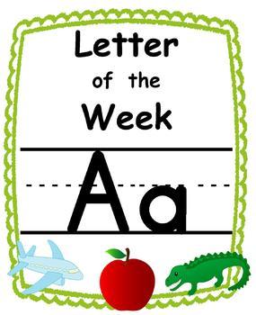 Letter of the week Alphabet Set