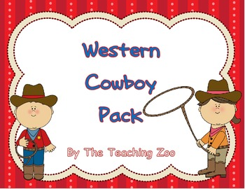 Letter of the week - C is for Cowboy Wild West pack