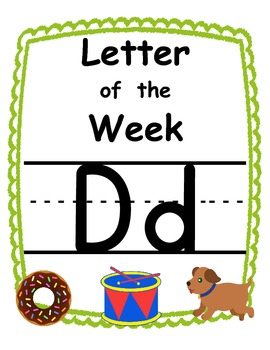 Letter of the week Dd