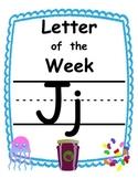 Letter of the week Jj