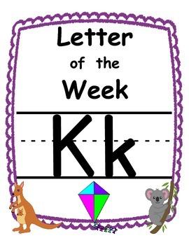 Letter of the week Kk