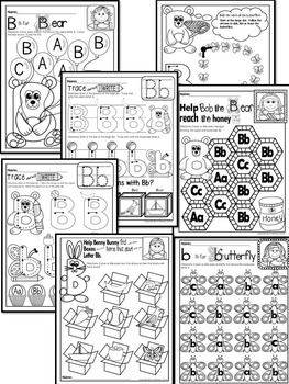 Letter of the week-LETTER B Activity PACK-letter recognition & identification_UK