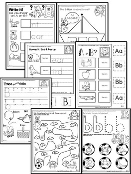 Letter of the week-LETTER B-NO PREP WORKSHEETS- CANADIAN SPELLING