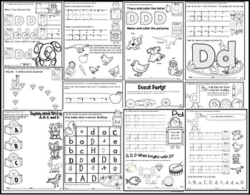Letter of the week-LETTER D Activity PACK- letter recognition &identification-US