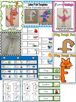 Letter of the week-LETTER F Activity PACK- letter recognition &identification-US