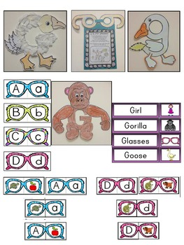 Letter of the week-LETTER G Activity PACK- letter recognition &identification-US