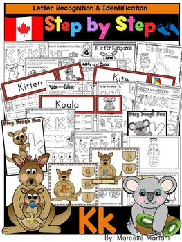 Letter of the week-LETTER K Activity PACK-letter recognition & identification-UK