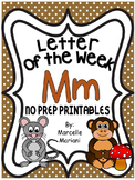 Letter of the week-LETTER M-NO PREP WORKSHEETS- LETTER M PACK