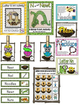 Letter of the week-LETTER N Activity PACK-letter recognition & identification-US