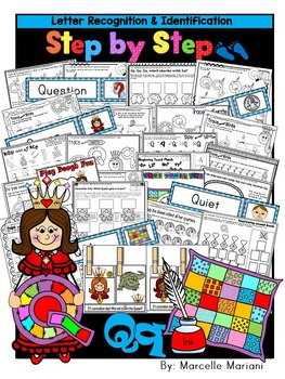 Letter of the week-LETTER Q Activity PACK-letter recognition & identification-US