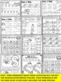 Letter of the week-LETTER S Activity PACK-letter recognition & identification-UK