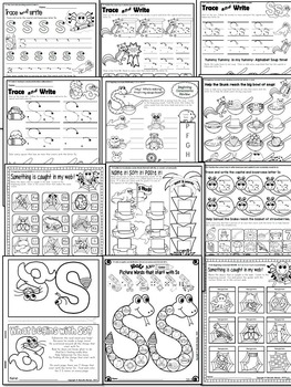 Letter of the week-LETTER S Activity PACK-letter recognition & identification-US