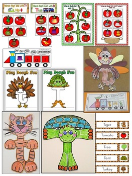 Letter of the week-LETTER T Activity PACK-letter recognition & identification-US