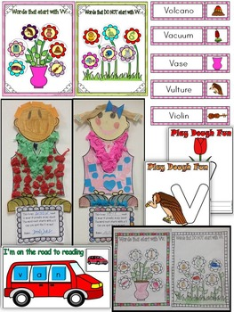 Letter of the week-LETTER V Activity PACK-letter recognition & identification-UK