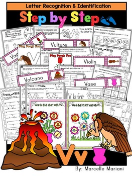 Letter of the week-LETTER V Activity PACK-letter recogniti