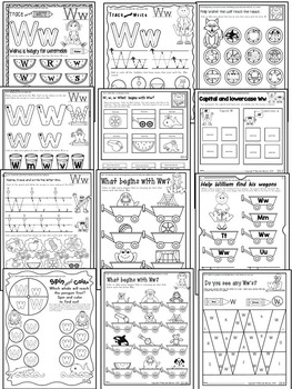 Letter of the week-LETTER W Activity PACK-letter recognition & identification-UK