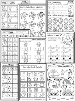Letter of the week-LETTER X Activity PACK-letter recognition & identification-UK