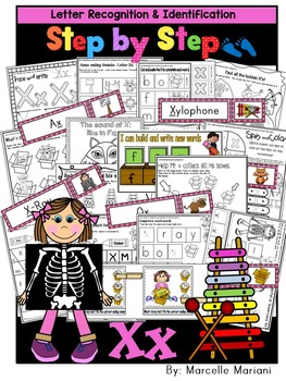 Letter of the week-LETTER X Activity PACK-letter recognition & identification-US
