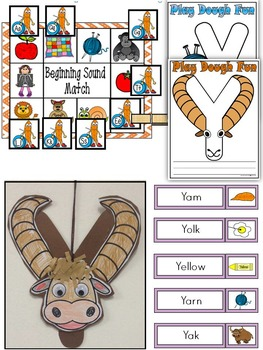 Letter of the week-LETTER Y Activity PACK-letter recognition & identification-US