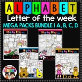 Letter of the week-LETTERS A, B, C, D ACTIVITY PACKS-BUNDLE 1